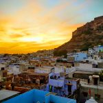 Jodhpur blaue Stadt Sonnenuntergang