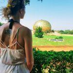 Matrimandir Auroville Meditation Tattoo