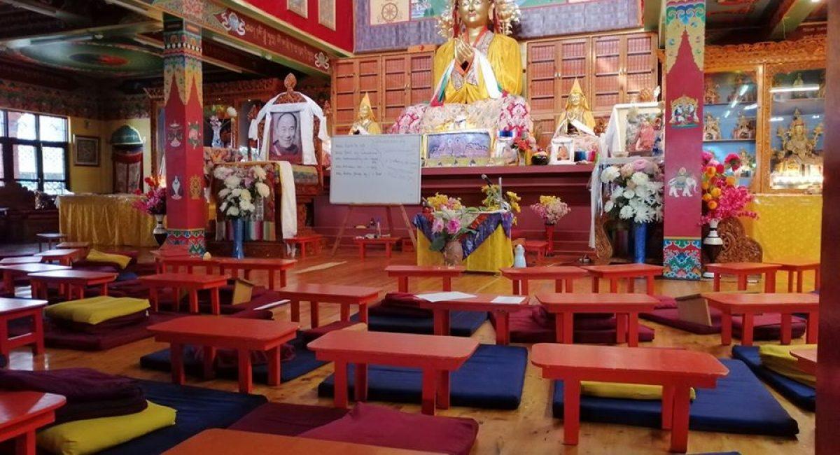 Innenbereich Tempel Meditation
